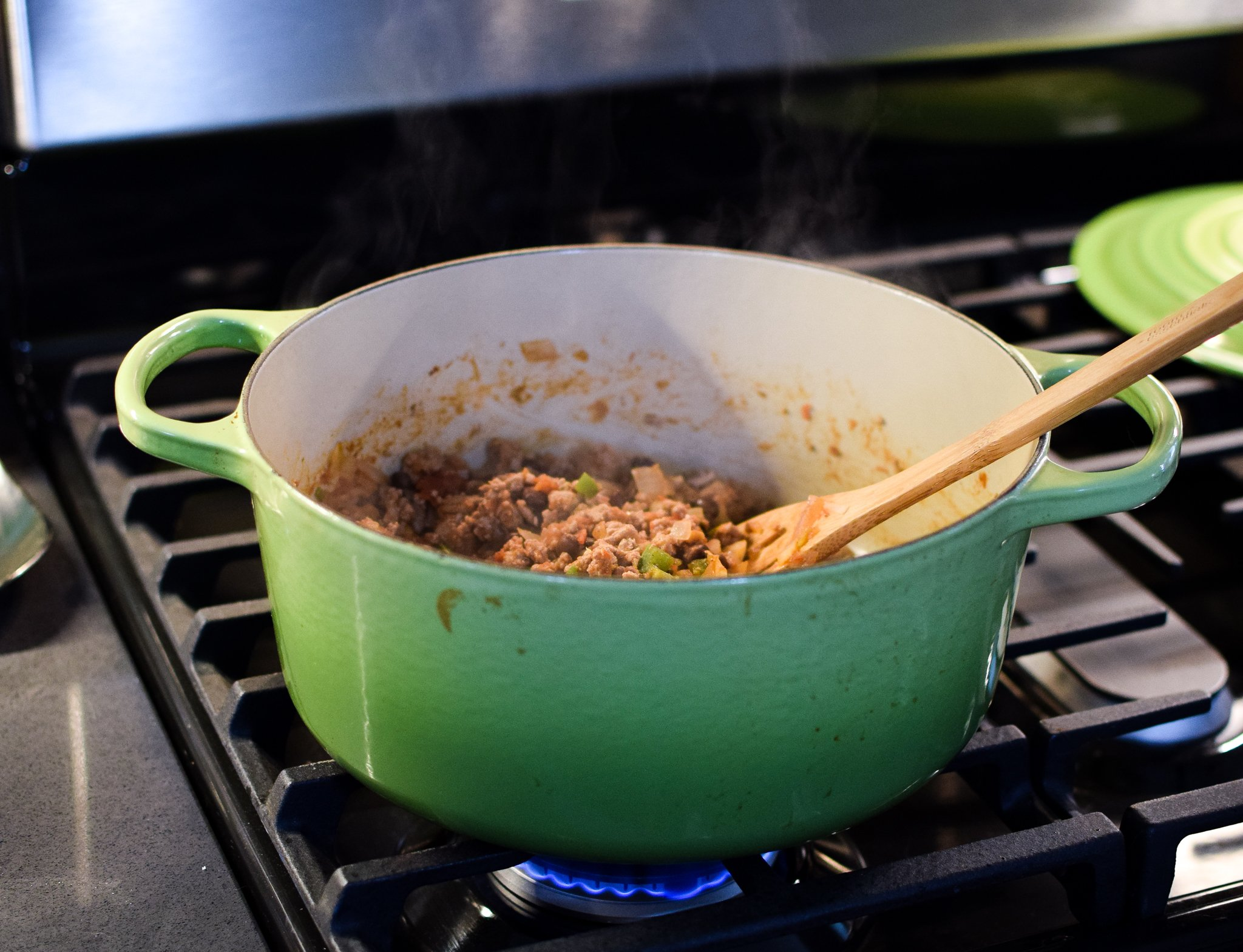 Cooking ground turkey that can be used in multiple meals.