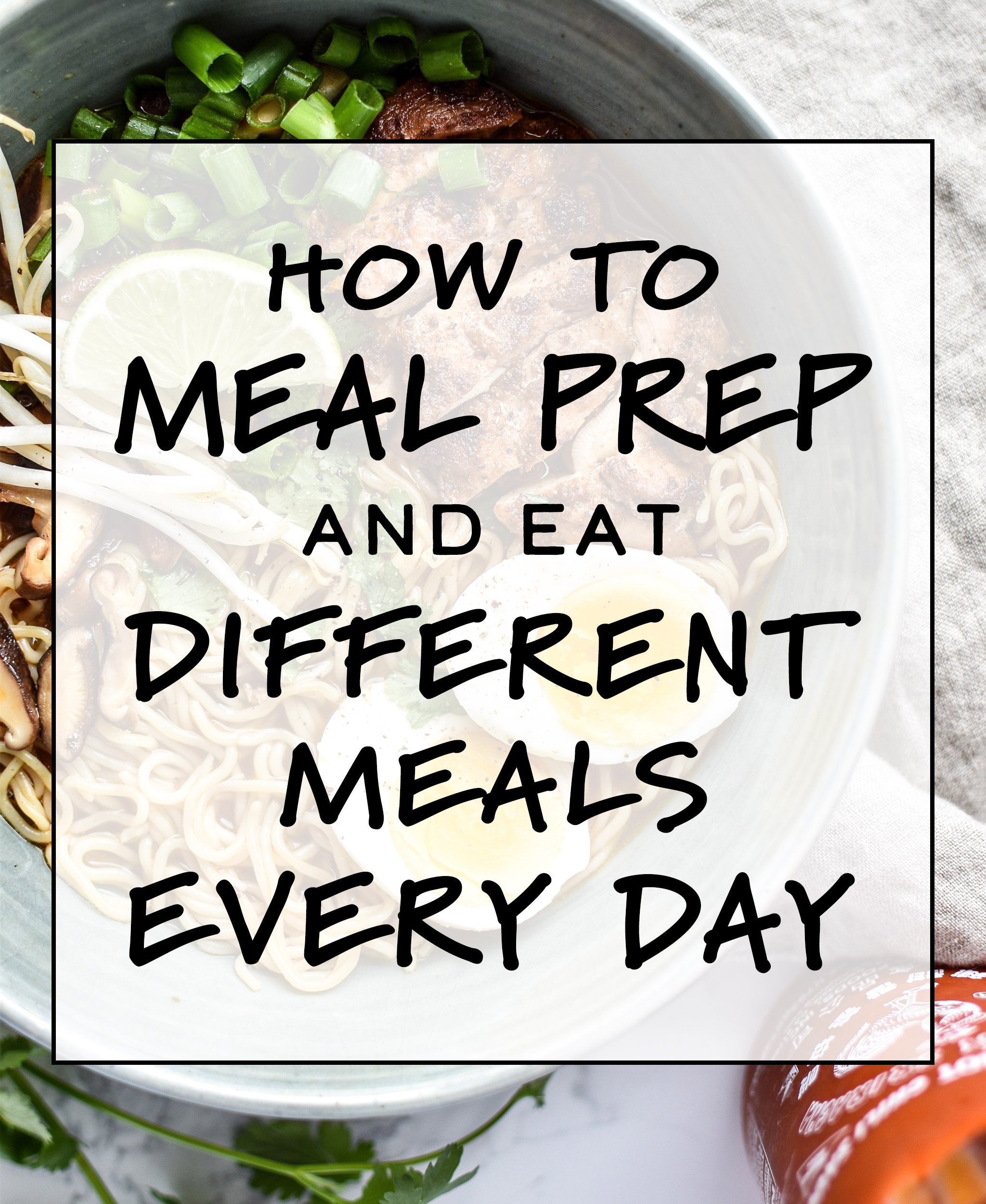 Cover photo for the article How to Meal Prep and Eat Different Meals Every Day